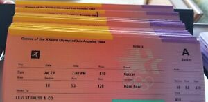 1984 USA LA Olympic SOCCER tickets July 29, July 30 A & B approx 150+ total tick