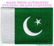 PAKISTAN FLAG PATCH PAKISTANI EMBROIDERED new APPLIQUE w/ VELCRO® Brand Fastener