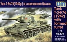 Unimodels 1/72 WWII T34/76 1942 Formed Turret Tank Plastic Model Kit 330 NEW!
