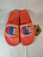 CHAMPION IPO men's Slides Slippers Shoes Groovy Papaya CM100304M Size 10 New