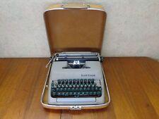 Vintage Portable Smith-Corona Clipper Model Typewriter Green Keys With Case VgC