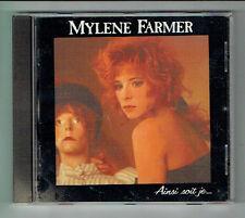 Mylene FARMER Disque CD AINSI SOIT JE...-SANS CONTREFACON -POLYDOR 835564-2 RARE