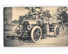 ST1107b; FIRE CO #1 BASKING RIDGE NJ (Historic prototype postcard 1914 postmark)