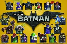 4 Poster Lot, Lego Batman Movie, Grid, Girls Rule, Faceoff, Not Cool, New Sealed
