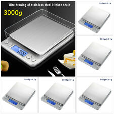 US 3000g X 0.1g LCD Weight Digital Scale Jewelry Electronic Balance Platform Kit