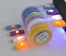2016 Colorful LED Micro USB Data Sync Charger Cable For  iPhone 5 5s 5c iPhone 6