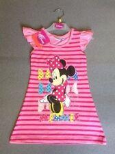 Robes rose pour fille de 2 à 16 ans en 100% coton, taille 6 - 7 ans