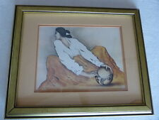 """R C Gorman Print """"Pottery Keeper"""" Signed Framed Native American Indian Women"""