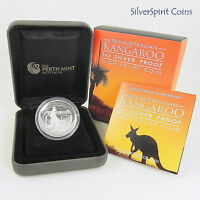 2014 KANGAROO HIGH RELIEF SILVER PROOF 1oz Coin