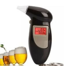 Digital Alcohol Breath Analyzer Breathalyser Tester Detector Black LCD Brand New