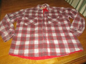Vintage Fieldmaster OUTDOOR WEAR  Mens Flannel Lined Perma Prest Large Button Up