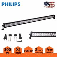 Philips 52inch 300W LED Work Light Bar Flood Spot Combo Off-road Jeep SUV Truck