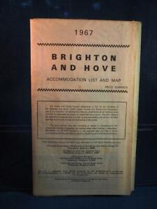 Vintage Brighton and Hove Accommodation List and Map 1967 Great Britain