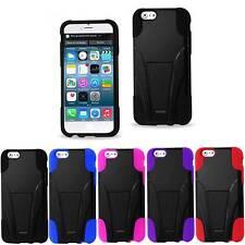"Reiko iPhone 6 4.7"" Premium 2-Pc Hybrid 2-Way Horizontal/Vertical Kickstand Case"