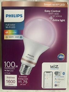 Philips Full Color Wi-Fi LED Warm/Cool 100 W Lighting with WiZ BRAND NEW SEALED!