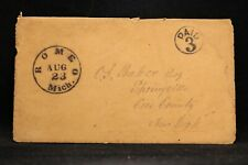 Michigan: Romeo 1851 Stampless Cover + Letter, Black CDS & Circled PAID 3
