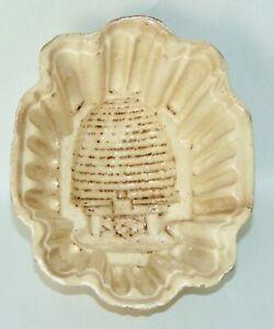 RARE ANTIQUE Pudding Mold BEEHIVE Stoneware