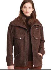 02a25ef475a53 Women s Ralph Lauren Coat Hollina Herringbone Jacket Brown Size Large Wool  Blend