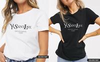 Women's Fashion Ye Yves Saint Love Short Sleeve Celebrity Slogan Printed T-shirt