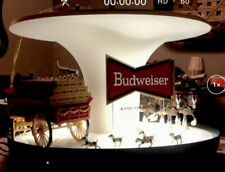 Vintage Budweiser Beer Clydesdale Parade Rotating Carousel Bar Light Sign