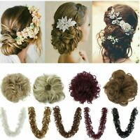 Extra Wrap On Messy Bun Curly Ponytail Hair Piece Chignon Updo Hair Extension