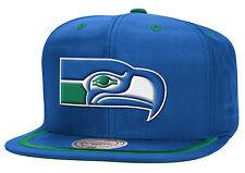 Mitchell and Ness NFL Seattle SeaHawks Logo Visor Court Retro Snapback Cap