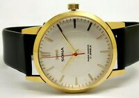 HMT Sona Men's Golden Plated Vintage White Dial Made India Watch Run Order