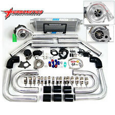 Universal T3/T4 T04E Hybrid Turbo Kit + Turbonetics Turbo Stage 1 5 Bolt 400HP