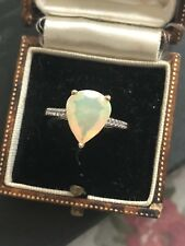 9ct Gold Fire Opal Vintage Ring