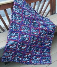 Rag Quilt throw Denver Broncos  quilt  handmade in USA # 22