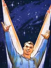 PROPAGANDA SOVIET USSR SPACE STAR COSMONAUT COMMUNISM POSTER ART PRINT BB2732B