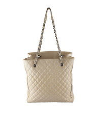 Chanel Yellow Quilted Patent Leather Tote