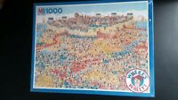 MB Where's Wally 1000 Piece Jigsaw Puzzle - Siege of Troy - 1993 - New & Sealed