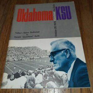 1972 Oklahoma sooners Kansas State football program OU KSU Norman harold keith