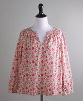 J.CREW NWT $128 Floral Smocked Popover Blouse Top in Liberty Art Size 8 Petite