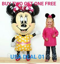 """jumbo 44"""" Minnie  Mouse Birthday Baby shower Party Balloons Balloon Pink Bow tie"""