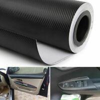 "Premium 12""x50"" 3D Black Carbon Fiber Vinyl Car Wrap Roll Film Sticker Decal"