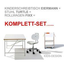 Ausstellungsstück Kinderschreibtisch Eiermann 150 x 75 cm+Stuhl weiß+Container!