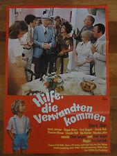 Uschi Glas HILFE DIE VERWANDTEN KOMMEN Horst Janson Eddi Arent Plakat Kinoplakat