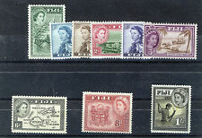 FIJI 1954-56 DEFINITIVES SG280/289 BLOCKS OF 4 MNH