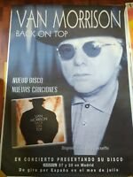 VAN MORRISON BACK ON TOP SPANISH BIG PROMO POSTER 100cm X 140cm MUY RARO
