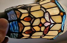 1 Vtg Leaded TIFFANY STYLE stained glass MISSION Shades table Lamp part SPECTRUM