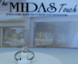 18 carat  white diamonds cluster ring , ladies dream design