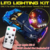 RC LED Licht Beleuchtung Set Für lego 42083 Für Bugatti Chiron Technic Auto Lego