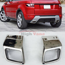 2pc Rear Bumper Silver Exhaust Muffler Tip Pipe Fit For Range Rover Evoque 12-19