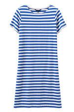 New Crew Clothing Womens Breton Jersey Dress in Cobalt/White