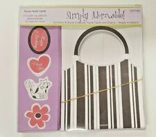 Simply Adornable Stationery Shape Stationary Gift 7 Blank Purse Cards & Chains
