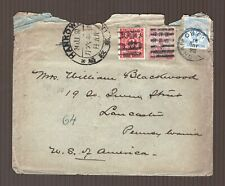 China empire 1897 Hankow dowager and red revenue franking cover
