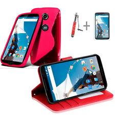 HOT PINK Wallet 4in1 Accessory Bundle Kit Case Cover For Google Nexus 6