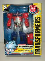 New Transformers Toys Optimus Prime Cyberverse Ultimate Class Action Figure 8T